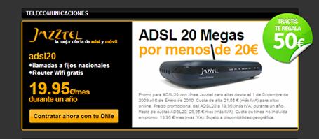 Tractis Promotions - ADSL 20MB de Jazztel