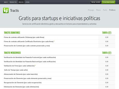 Tractis ProBono, ahora también para startups
